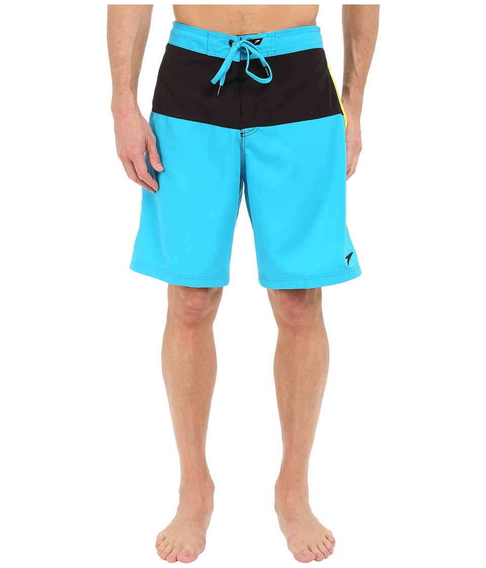 Speedo Long Bay E Board Cyan Mens Swimwear