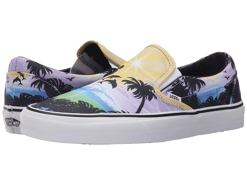 Vans Classic Slip On Dolphin Beach Black/True White Skate Shoes