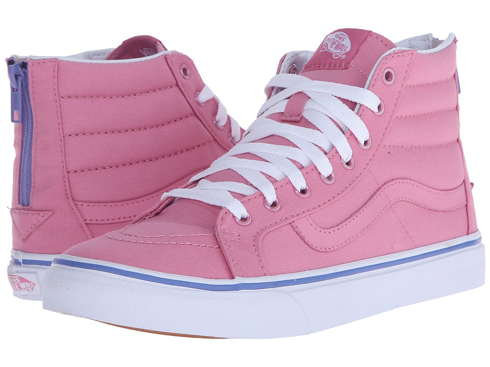 SK8-Hi Slim Zip ((Iridescent Eyelets) Wild Rose) Skate Shoes