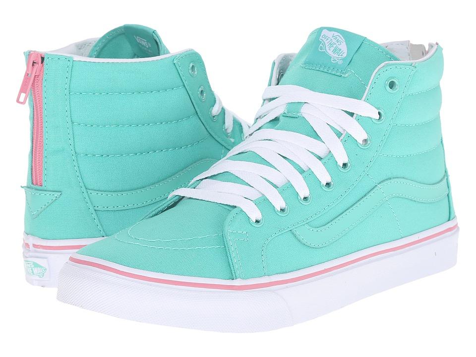 SK8-Hi Slim Zip ((Iridescent Eyelets) Florida Keys) Skate Shoes
