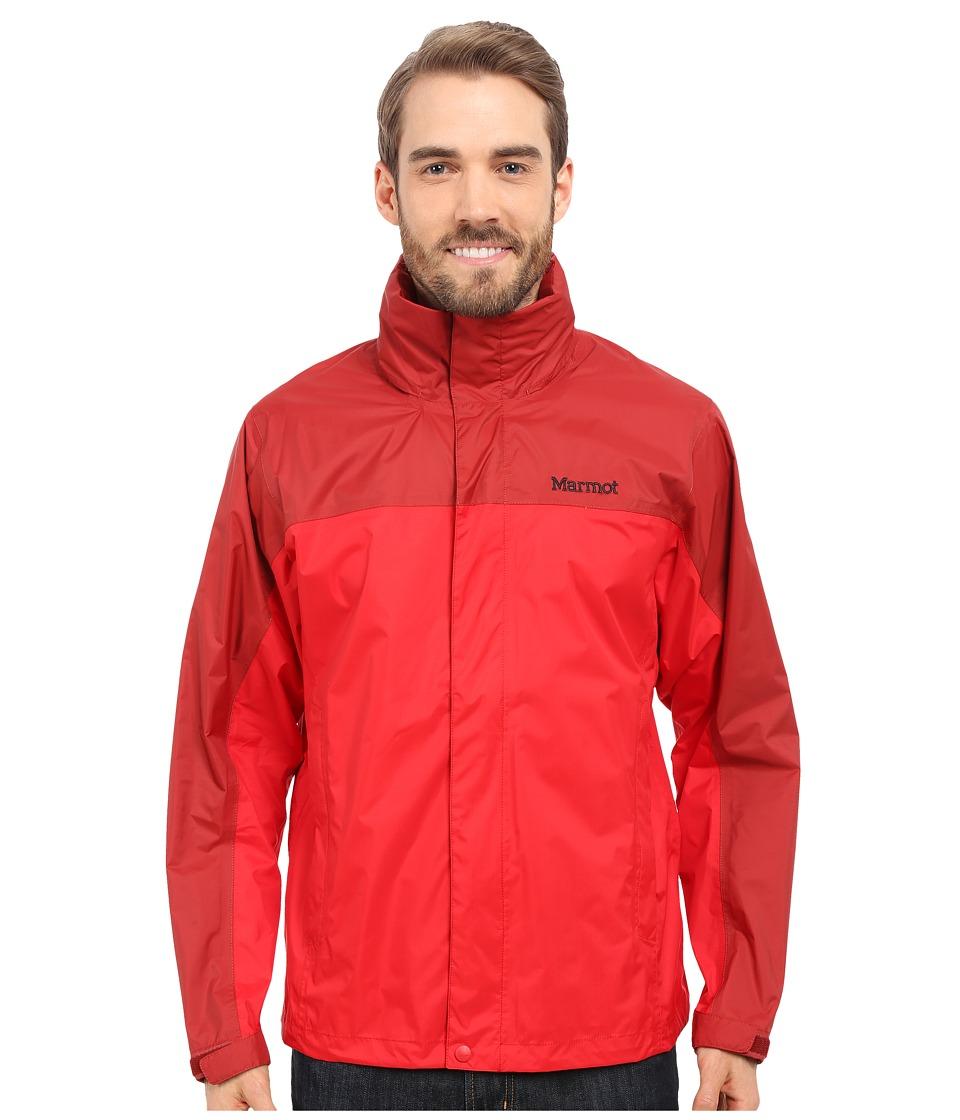 Marmot PreCip Jacket Team RedDark Crimson Mens Jacket
