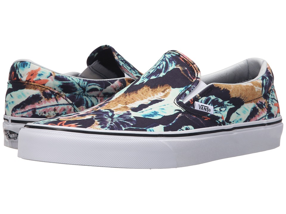 Vans Classic Slip On Tropical Multi/Black Skate Shoes