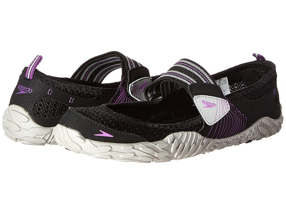 Speedo Offshore Strap Black/Purple Womens Shoes