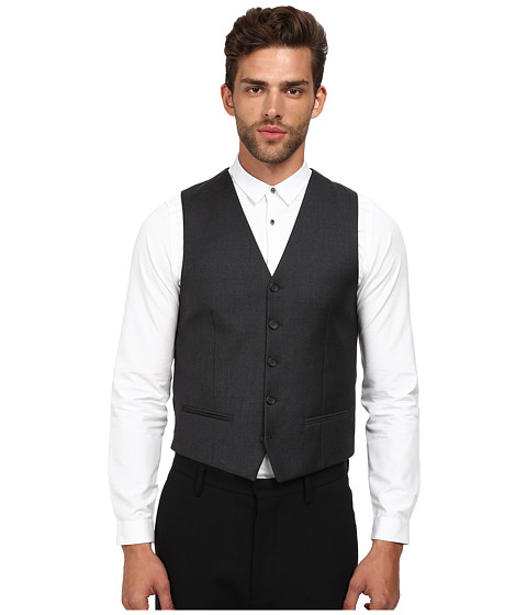 The Kooples Fitted Tailor Super 100 Suit Vest