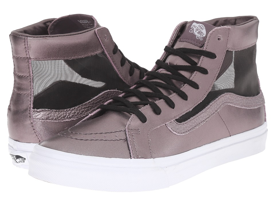 SK8-Hi Slim Cutout ((Mesh Metallic) Thistle Purple/True White) Shoes