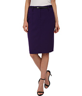 Calvin Klein - Solid Belted Straight Skirt