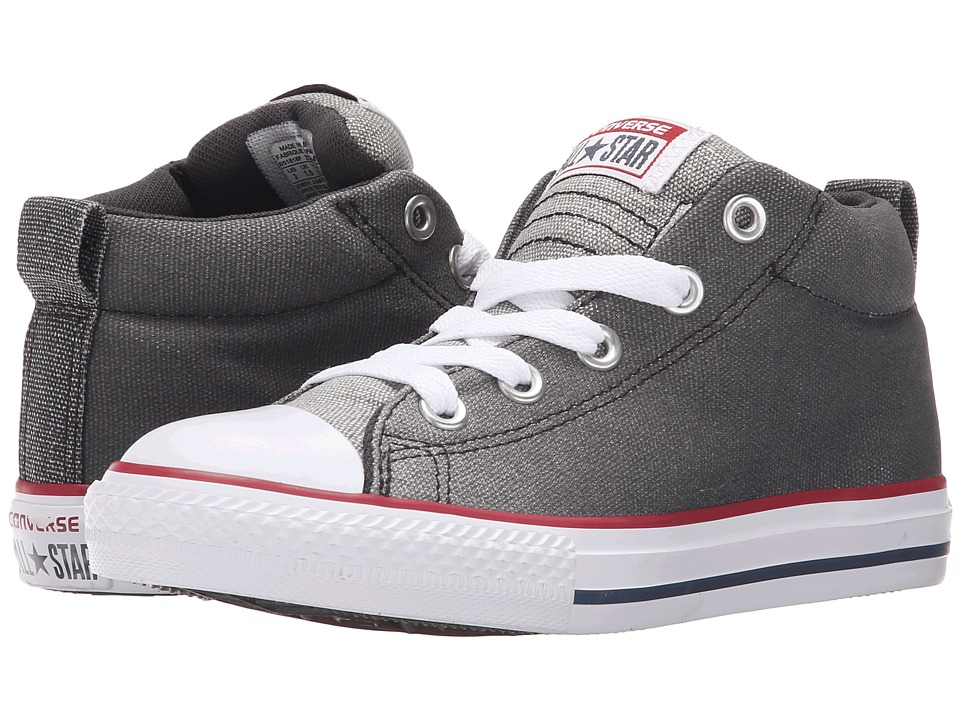 Converse Kids Chuck Taylor All Star Street Mid Little Kid/Big Kid Dolphin/Almost Black/White Boys Shoes