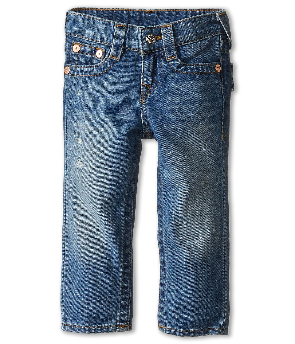 True Religion Kids - Geno Relaxed Slim Vintage Gold Single End Classic in Crown Blue