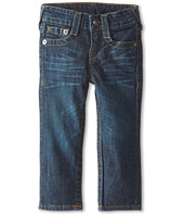 True Religion Kids - Geno Relaxed Slim Fossil Silk Single End Classic Stretch in Dark Indigo (Toddler/Little Kids)