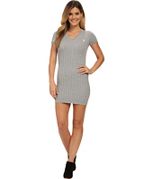 U.S. POLO ASSN. - Cable Knit V-Neck Dress
