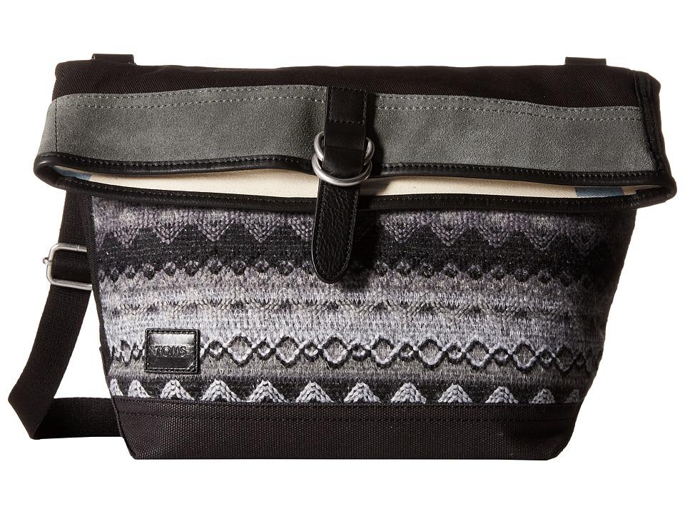 TOMS - Caldera Sweater Felt Messenger (Black Multi) Messenger Bags