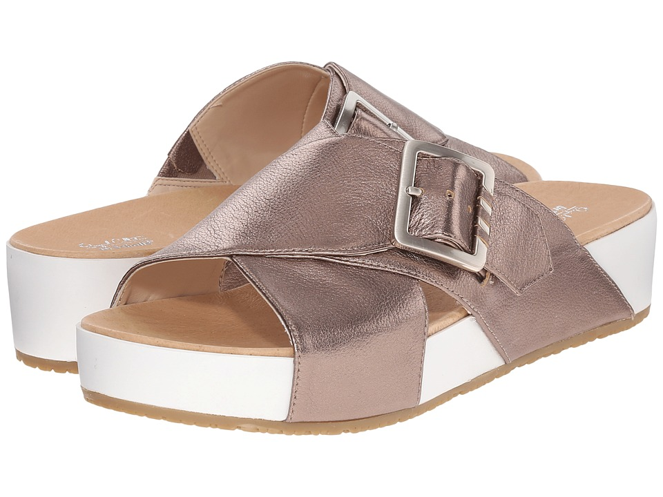 Dr. Scholls Flight Original Collection Molten Pewter/White Bottom Womens Sandals