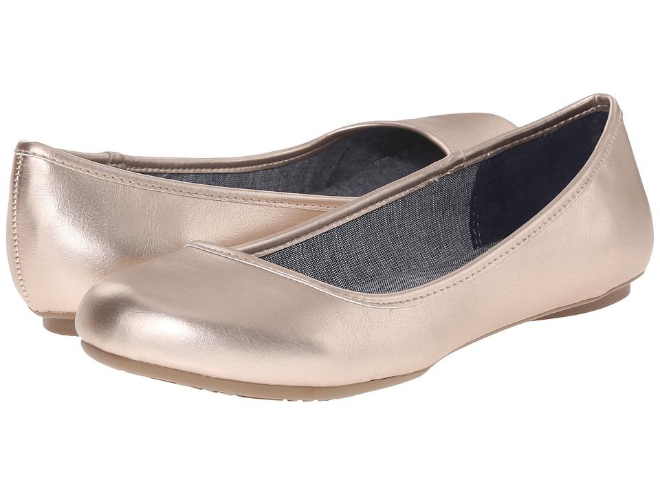 Dr. Scholls Friendly Rose Gold Metallic Womens Flat Shoes