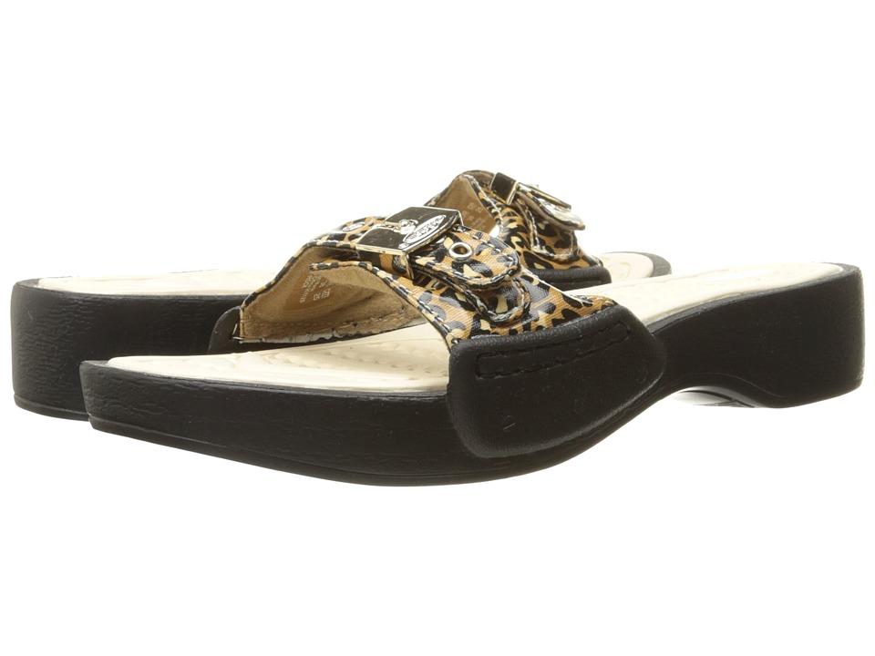 Dr. Scholls Rock Brown/Black Leopard Pony Womens Shoes