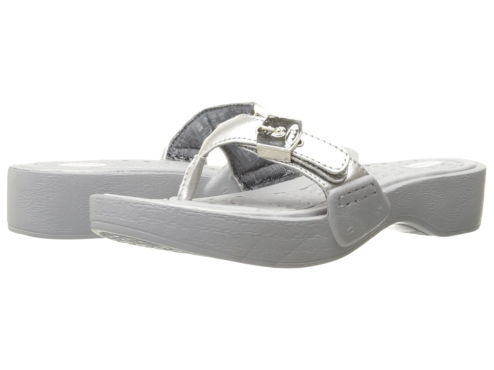 Dr. Scholls Roll Silver Womens Shoes