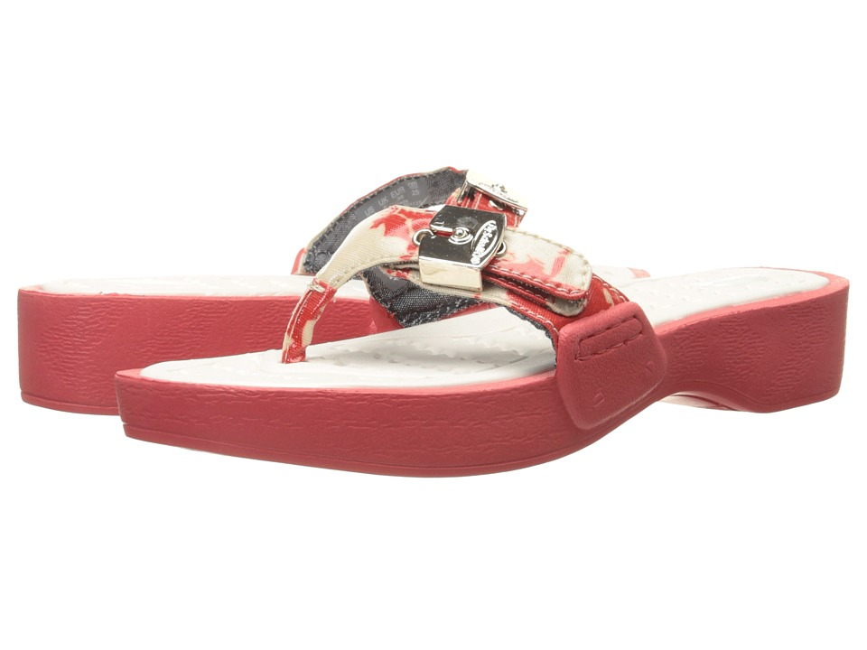 Dr. Scholls Roll Coral Floral Womens Shoes