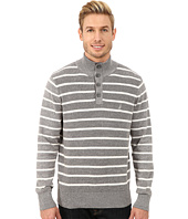 Nautica - 9 Gauge Shaker Knit Botton Mock Sweater