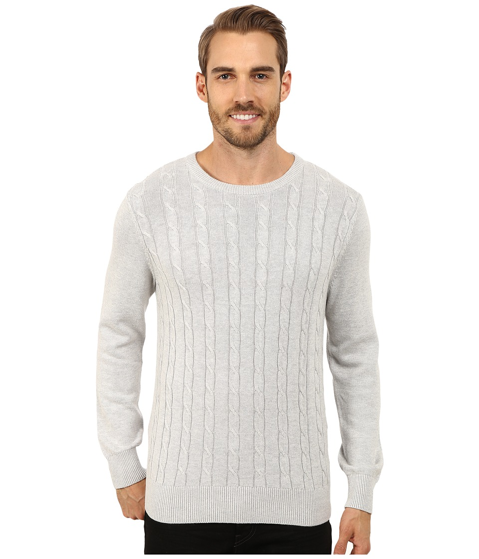 Nautica - 9 Gauge Solid Crew Neck Cable Sweater High Rise Mens Sweater $118.00 AT vintagedancer.com