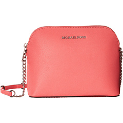 Image of MICHAEL Michael Kors - Cindy Large Dome Crossbody (Coral) Cross Body Handbags