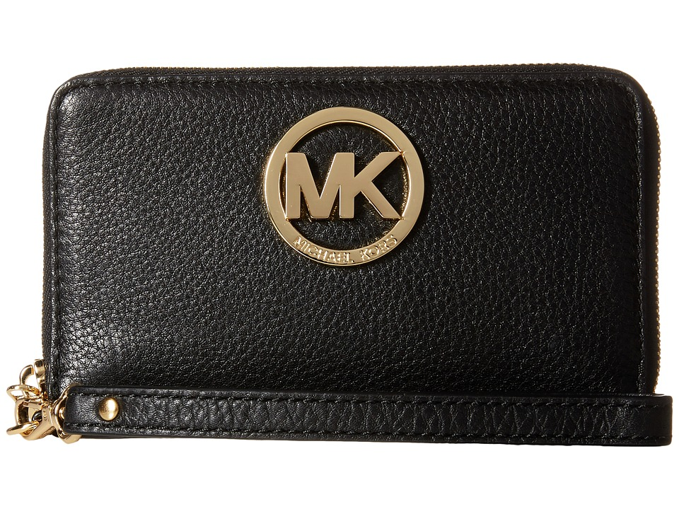 MICHAEL Michael Kors - Fulton Large Flat Multi Funt Phone Case (Black) Cell Phone Case