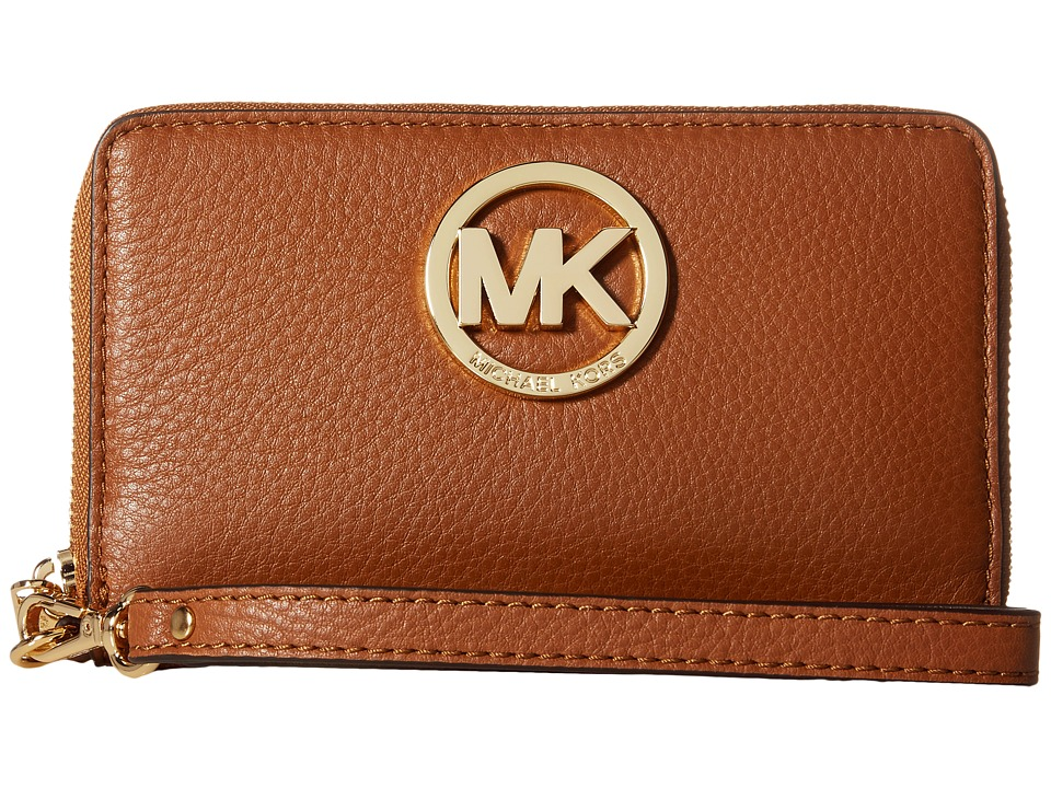 MICHAEL Michael Kors - Fulton Large Flat Multi Funt Phone Case (Luggage) Cell Phone Case