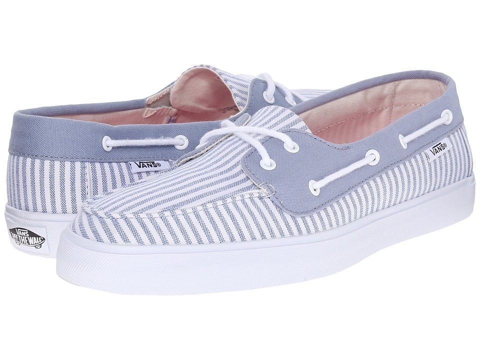 Vans Chauffette SF Stripe Faded Denim Womens Lace up casual Shoes