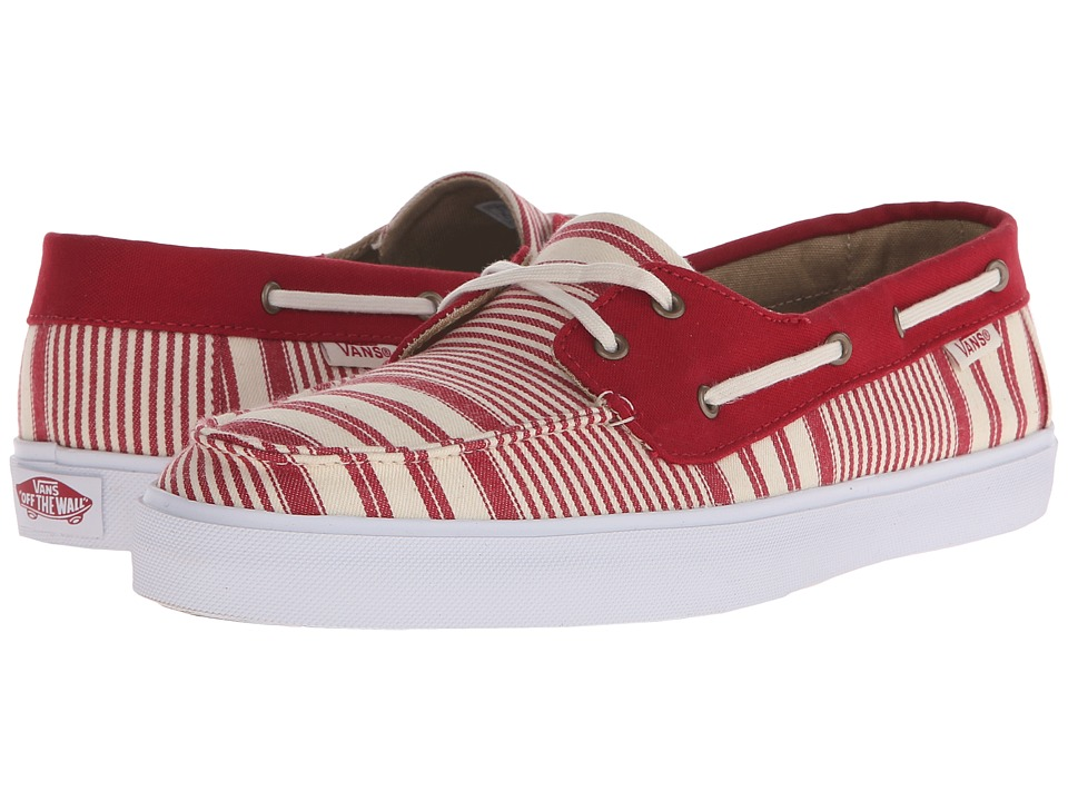 Vans Chauffette SF Multi Stripe Chili Pepper Womens Lace up casual Shoes
