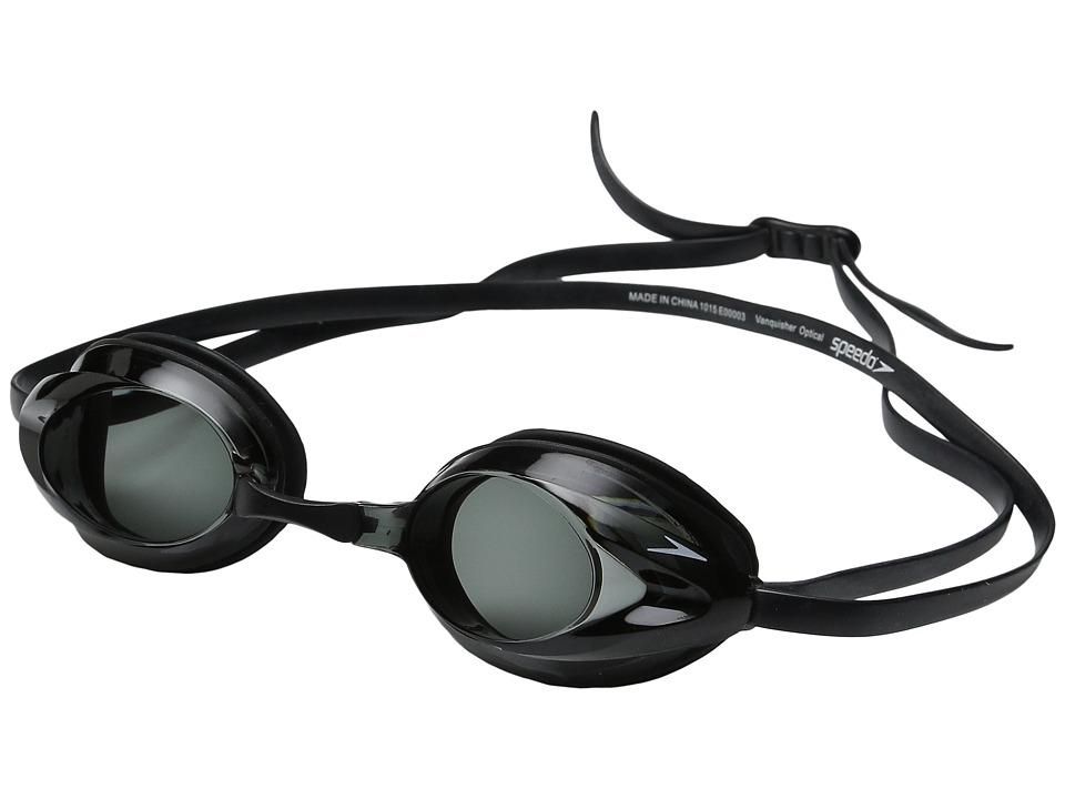 Speedo Vanquisher Optical Goggle Black/Smoke Athletic Sports Equipment