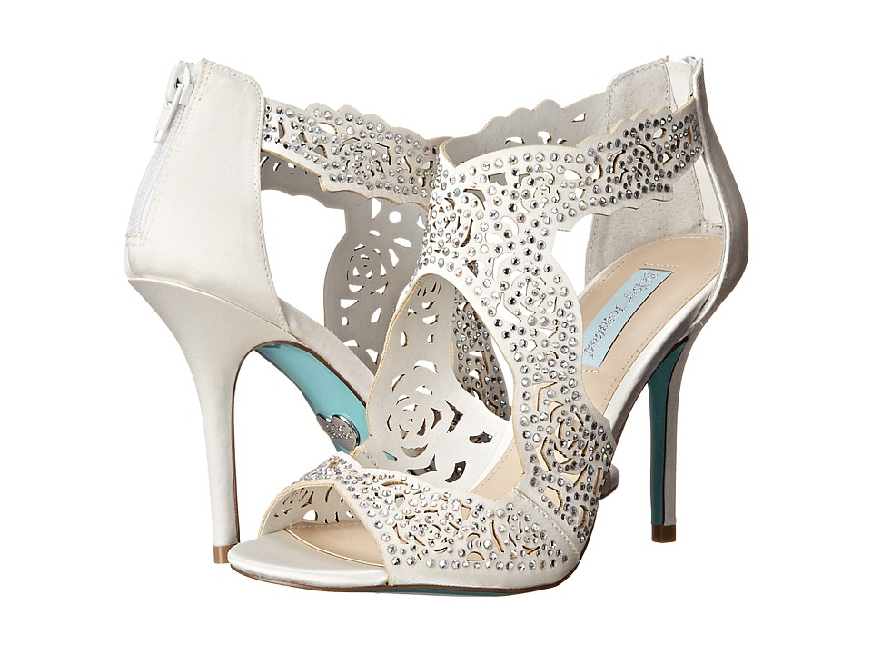 Blue by Betsey Johnson - Livie (Ivory Satin) High Heels