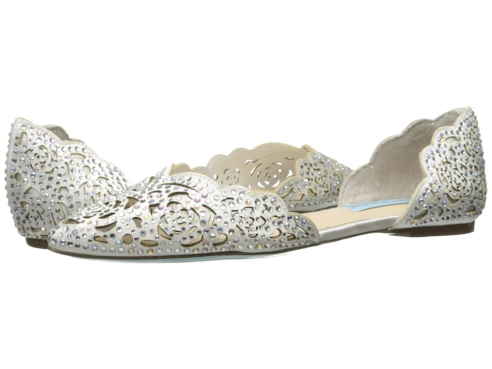 Blue by Betsey Johnson - Lucy (Ivory Satin) Womens Shoes