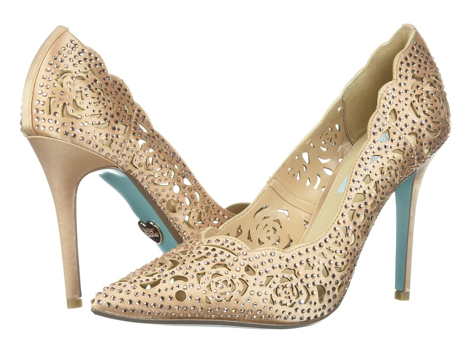 Blue by Betsey Johnson Elsa (Blush Satin) High Heels