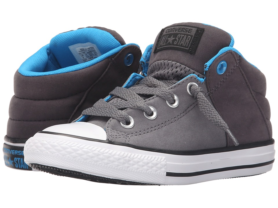 Converse Kids Chuck Taylor All Star Axel Mid Puddle Canvas Little Kid/Big Kid Thunder/Almost Black/Spray Paint Boys Shoes