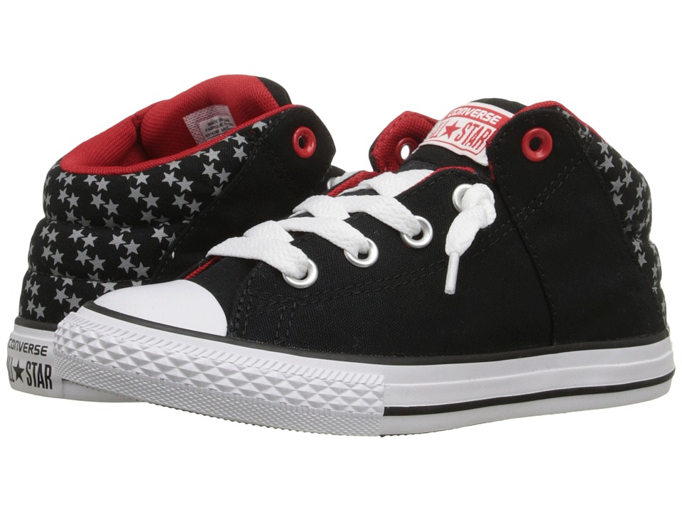 Converse Kids Chuck Taylor All Star Axel Mid Little Kid/Big Kid Black/Casino/White Boys Shoes
