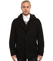 Buffalo David Bitton - Wool Button Front Jacket w/ Hood & Bib