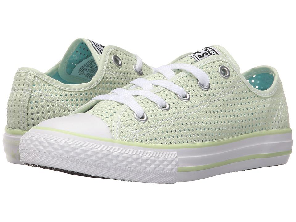 Converse Kids - Chuck Taylor All Star Ox (Little Kid/Big Kid) (Pistachio Green/Motel Pool/White) Girls Shoes