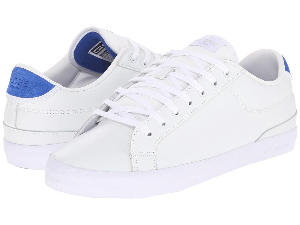 Globe - Status (White/Blue Full Grain Leather) Men