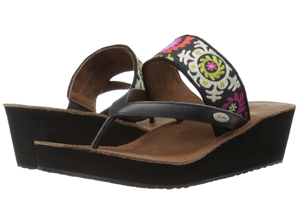 Acorn ArtWalk Leather Wedge (Multi Suzani) Women