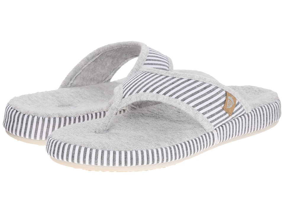 Acorn Thong Summerweight (Grey Stripe) Slippers