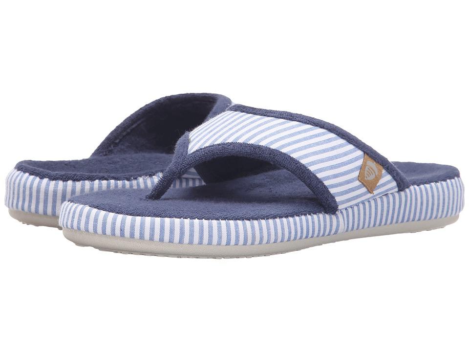 Acorn Thong Summerweight (Blue Stripe) Slippers