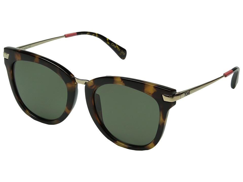TOMS Adeline Polarized Blonde Tortoise Fashion Sunglasses