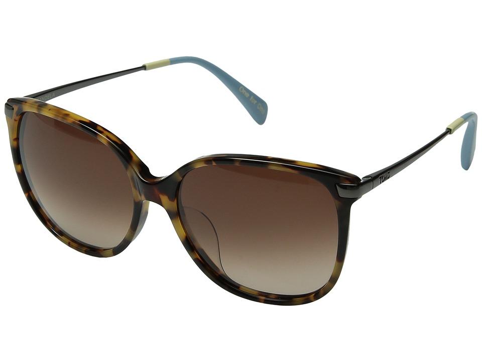 TOMS - Sandela 201 (Blonde Tortoise) Fashion Sunglasses