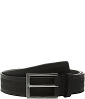 John Varvatos - 35mm Nubuck Heat Crease Detail Belt