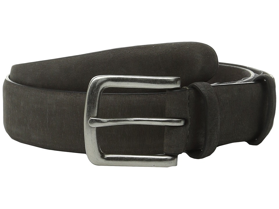 John Varvatos 32mm Burnished Nubuck Belt Grey Mens Belts