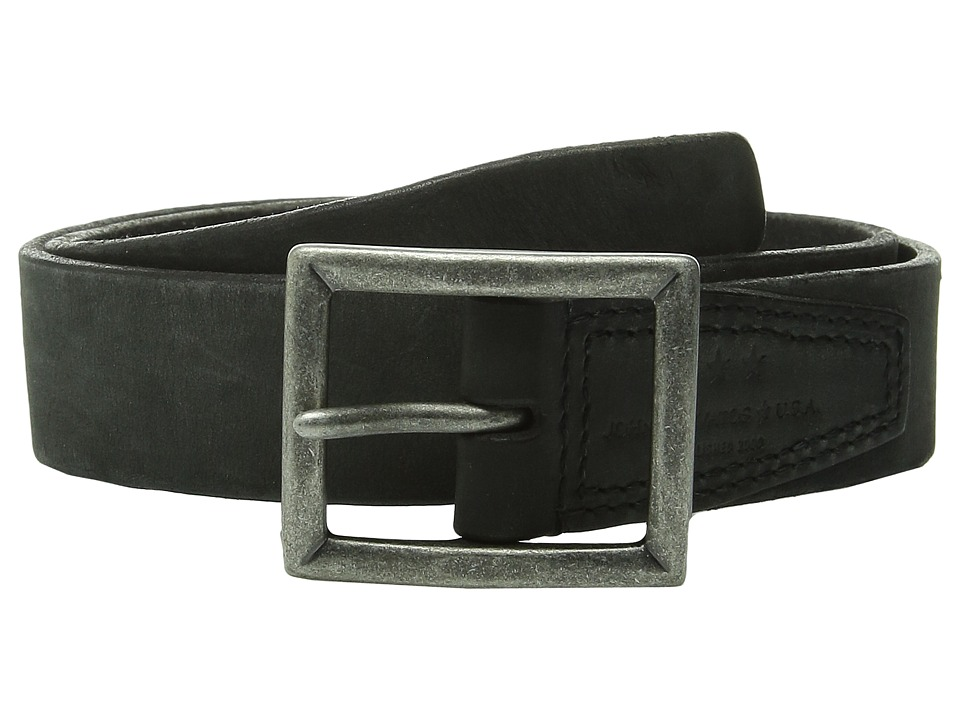 John Varvatos - 35mm Full Weight Harness Leather Belt (Black) Men