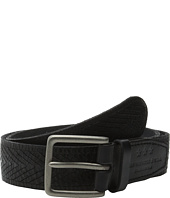 John Varvatos - 38mm Chevron Embossed Leather Belt