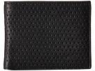 John Varvatos Perforated Slim Fold Wallet (Black)