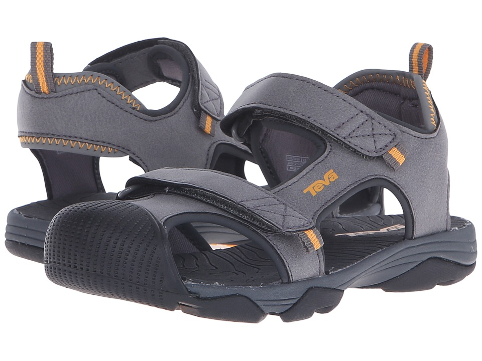 Teva Kids - Toachi 4 (Little Kid/Big Kid) (Dark Grey/Orange) Boys Shoes