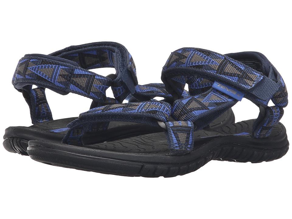 Teva Kids Hurricane 3 (Little Kid/Big Kid) (Mosaic Blue/Grey) Boys Shoes