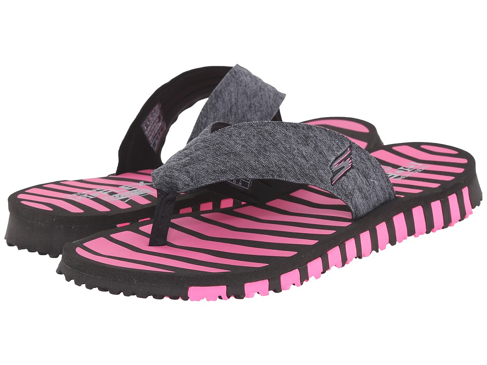 SKECHERS Performance Go Flex Vitality Black/Hot Pink Womens Shoes
