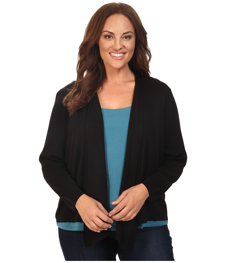 NIC+ZOE - Plus Size 4-Way Cardy (Black Onyx) Women